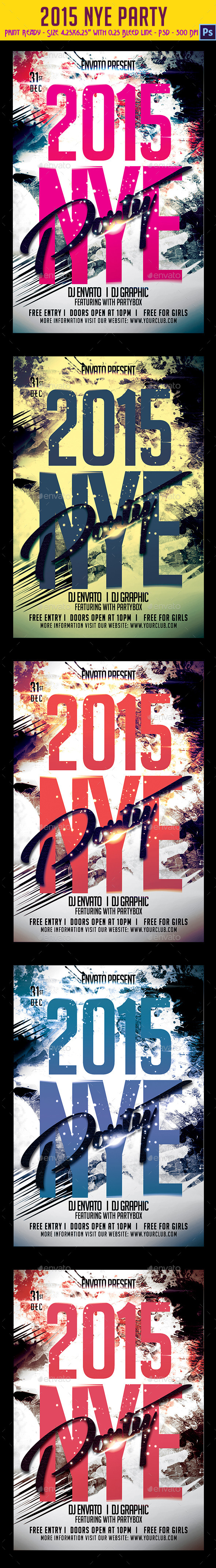 2015 NYE Party Flyer - Clubs & Parties Events