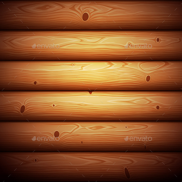 Wooden Timbered Wall Seamless Background - Patterns Decorative