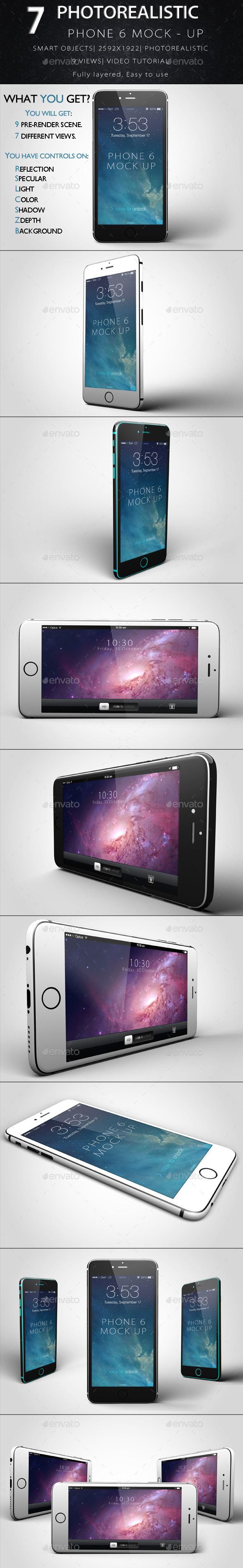 Phone 6 Mock-Up - Product Mock-Ups Graphics