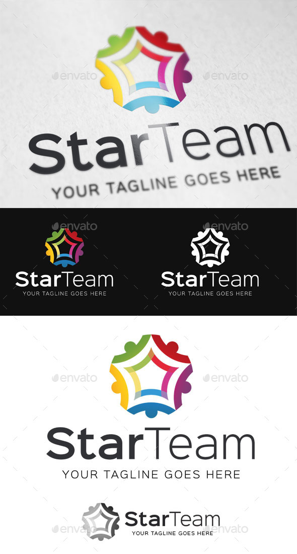 Star Team Logo Template - Abstract Logo Templates