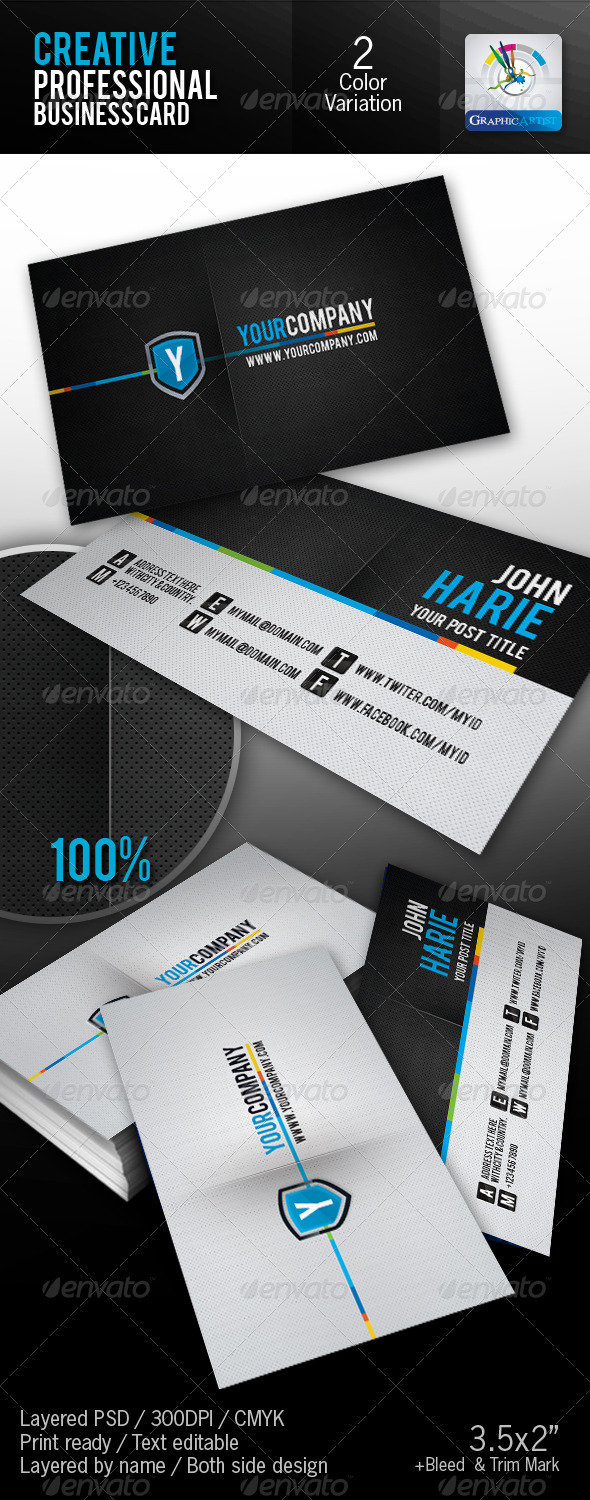 Creative Professional Business Card - Creative Business Cards