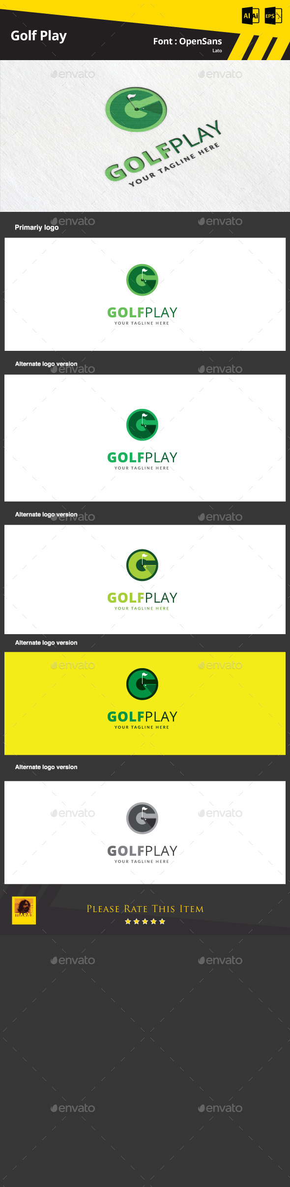 Golf Play  Logo Template - Abstract Logo Templates