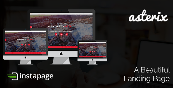 Asterix Instapage Template - Instapage Marketing
