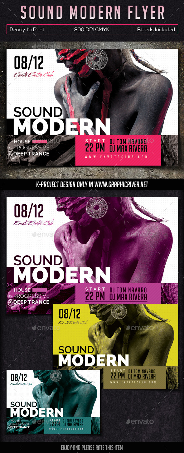 Sound Modern Flyer - Clubs & Parties Events