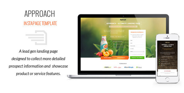 Approach - Lead Gen Instapage Template - Instapage Marketing