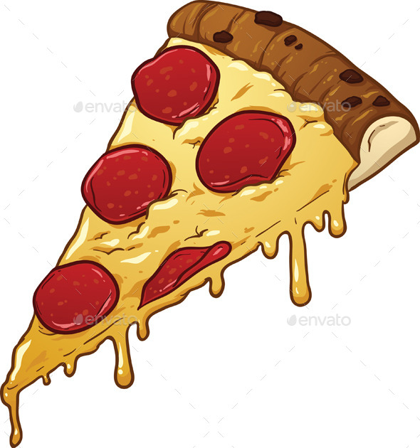salami pizza slice by memoangeles graphicriver rh graphicriver net Cheesy Pizza Drawing Cheesy Pizza Drawing