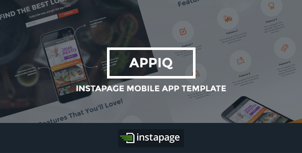 APPIQ - Instapage Theme (Mobile App) - Instapage Marketing