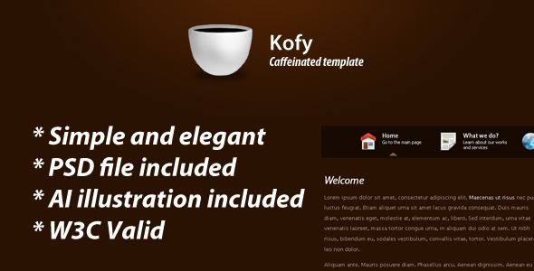 Free Download Kofy clean & elegant theme Nulled Latest Version