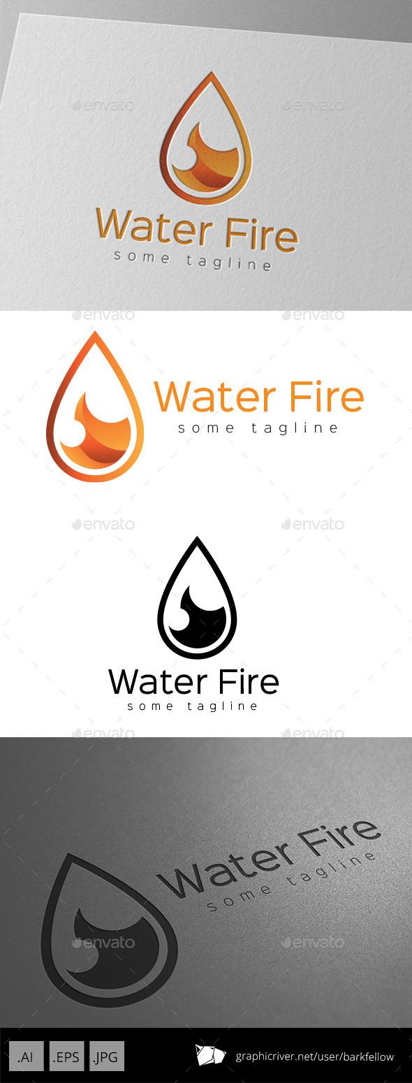 Fire Water Drop Logo - Abstract Logo Templates