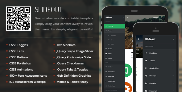 Slideout Mobile | Mobile Template - Mobile Site Templates