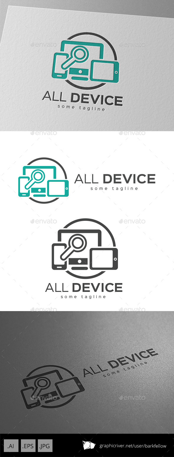 Responsive All Device Media Logo - Objects Logo Templates