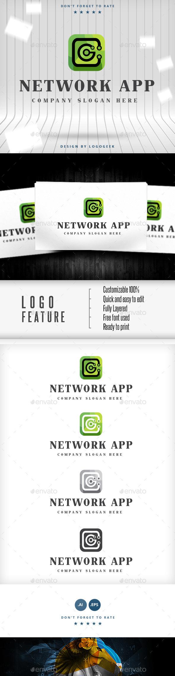 Network App  - Logo Templates