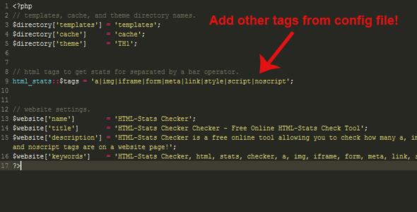 HTML-Stats Checker