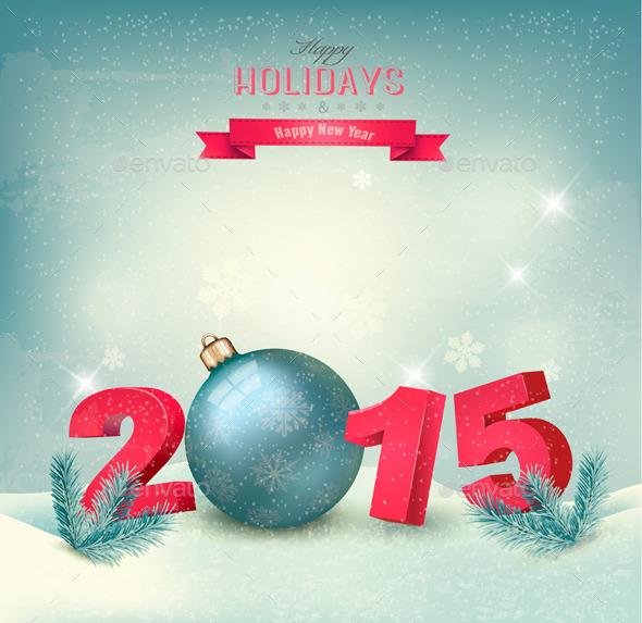 Happy New Year 2015 Template - New Year Seasons/Holidays
