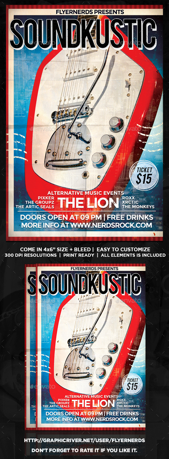 Soundkustic Music Concert Flyer - Concerts Events