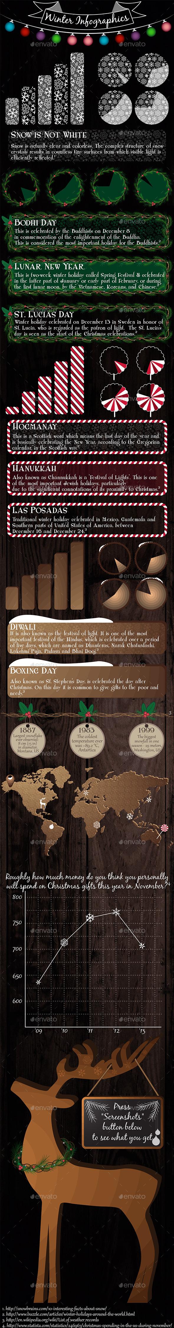 Winter Elements - Infographics