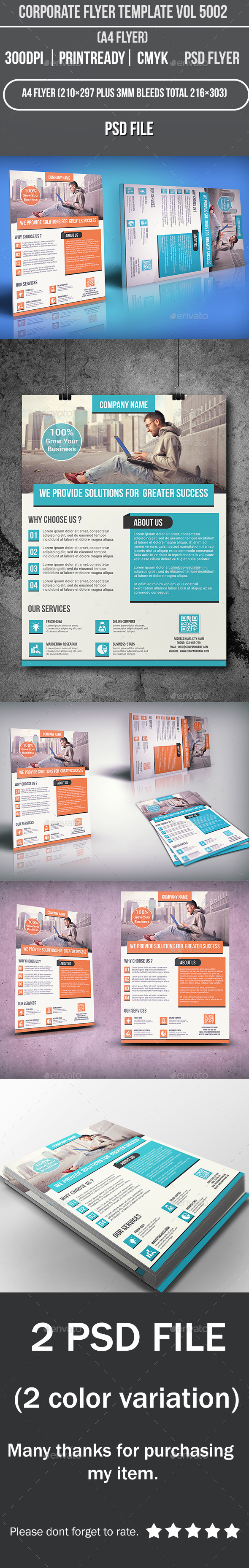 Corporate Flyer Template Vol 5002 - Corporate Flyers