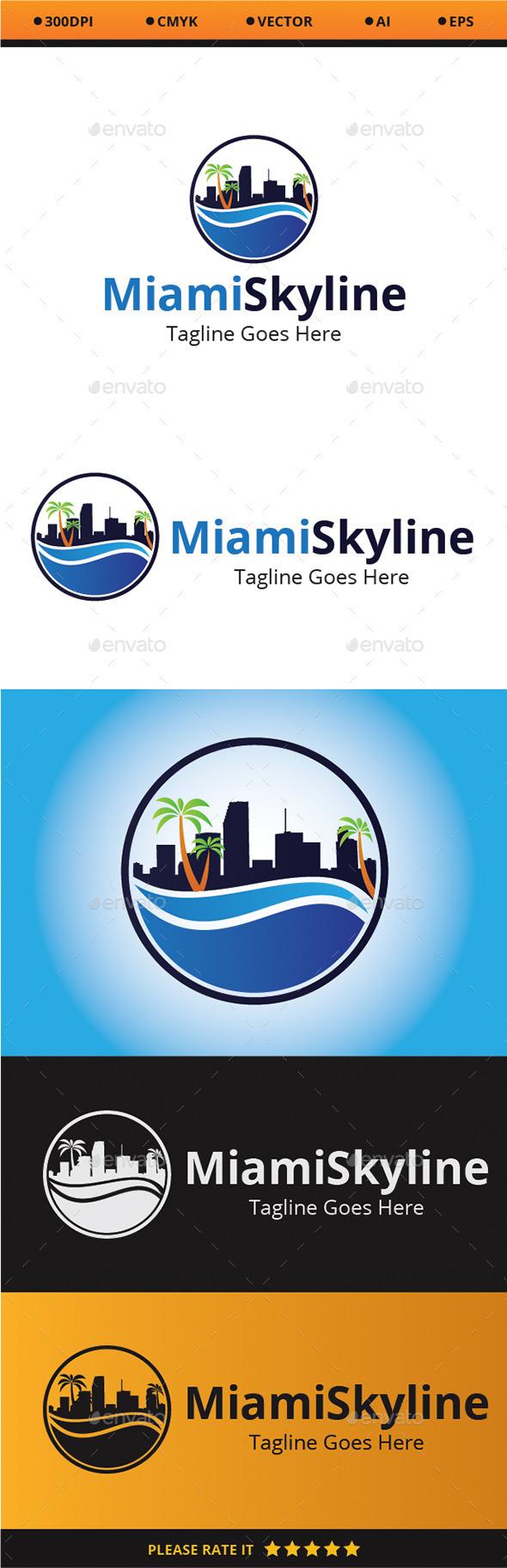 Miami Skyline - Logo Templates