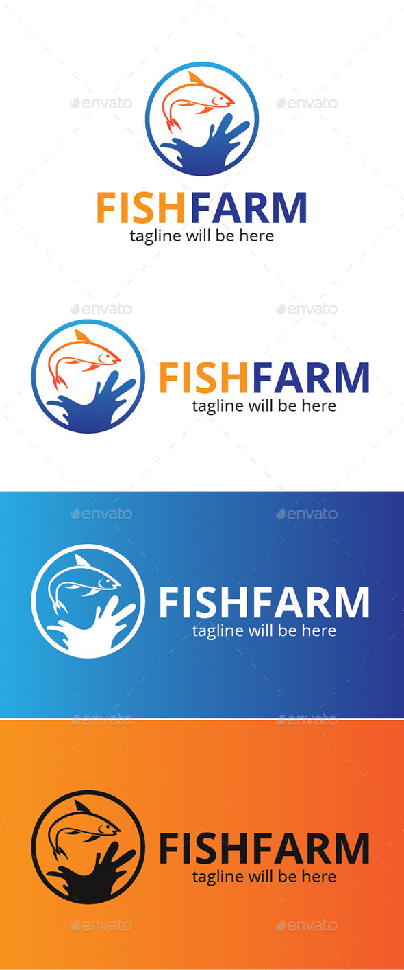 Fish Farm - Animals Logo Templates