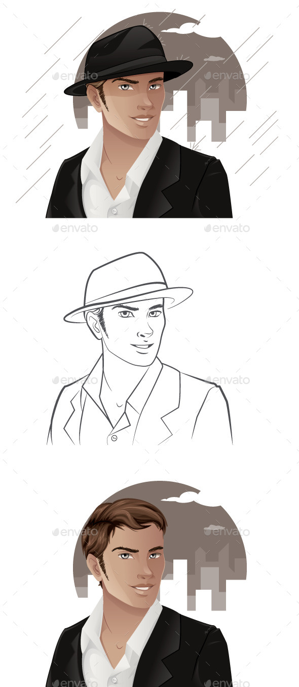 Man Wearing Hat - People Characters