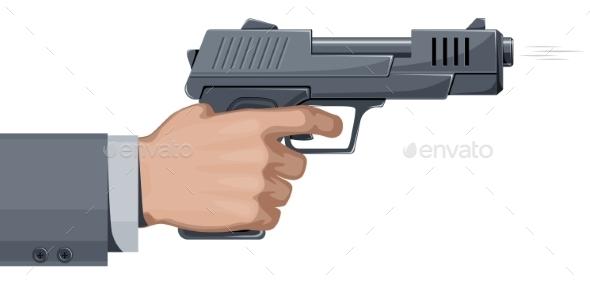 Handgun - Man-made Objects Objects