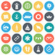 Marine Round Vector Icons - GraphicRiver Item for Sale