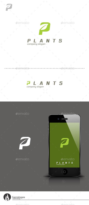 Plants - Letter P Logo - Letters Logo Templates