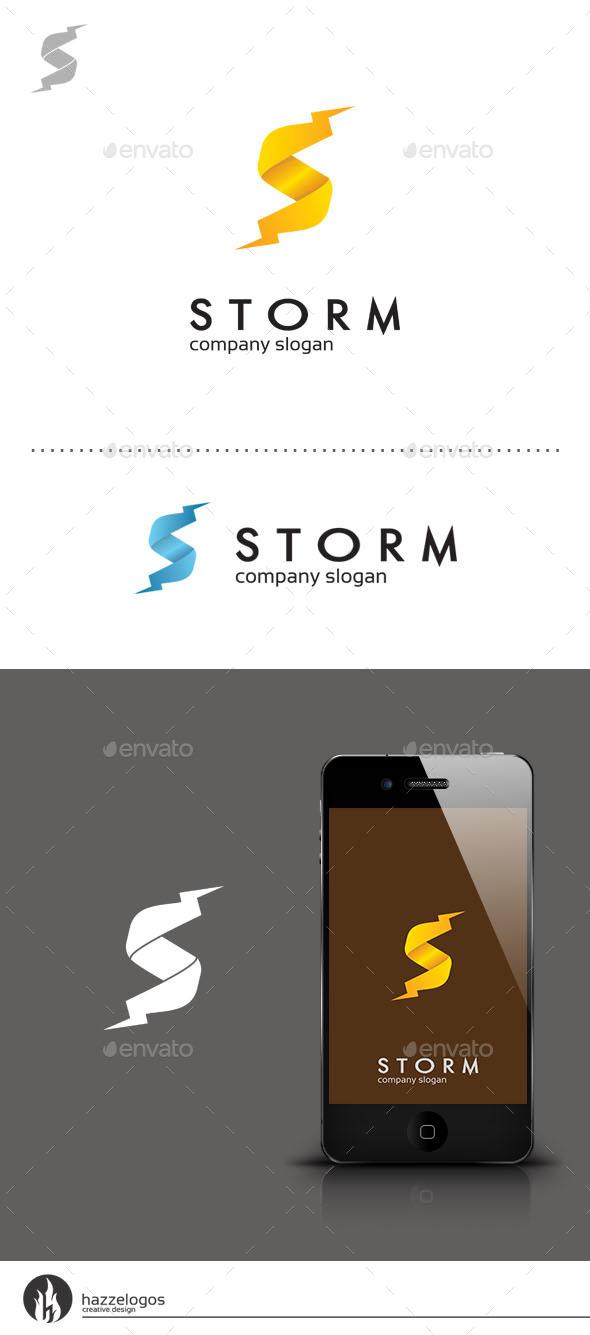 Storm - Letter S Logo - Letters Logo Templates