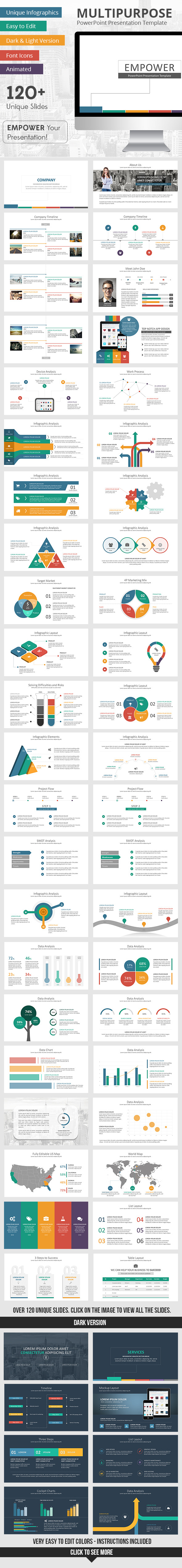 Empower PowerPoint Presentation Template - Business PowerPoint Templates