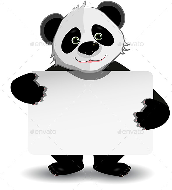 Panda with Background - Animals Characters