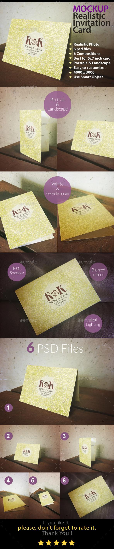 Invitation Card Mockup Indoor Series - Miscellaneous Print