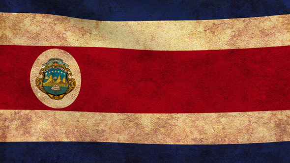 costa rica flag 2 pack grunge and retro by aslik videohive