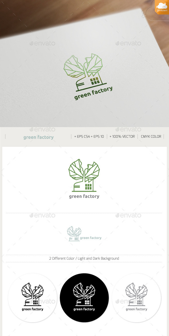 Green Factory - Buildings Logo Templates