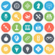 Thinking and Brainstorming Round Vector Icons - GraphicRiver Item for Sale