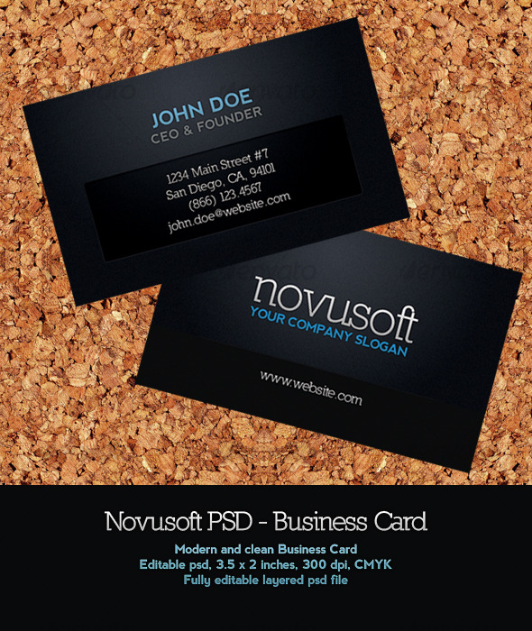 Novusoft business card by stellapelagatti graphicriver novusoft business card corporate business cards reheart Image collections