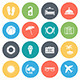 Travel and Vacation Round Vector Icons - GraphicRiver Item for Sale