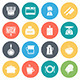 Kitchen and Cooking Round Vector Icons - GraphicRiver Item for Sale