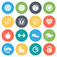 Sports and Fitness Round Icons - GraphicRiver Item for Sale