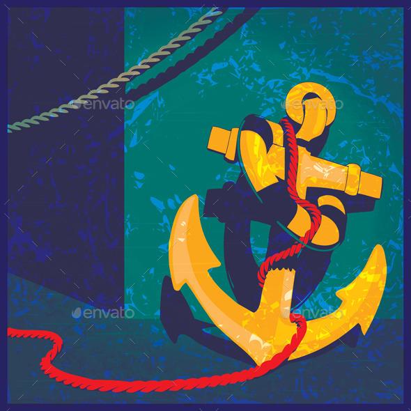 Nautical Theme Vintage - Conceptual Vectors