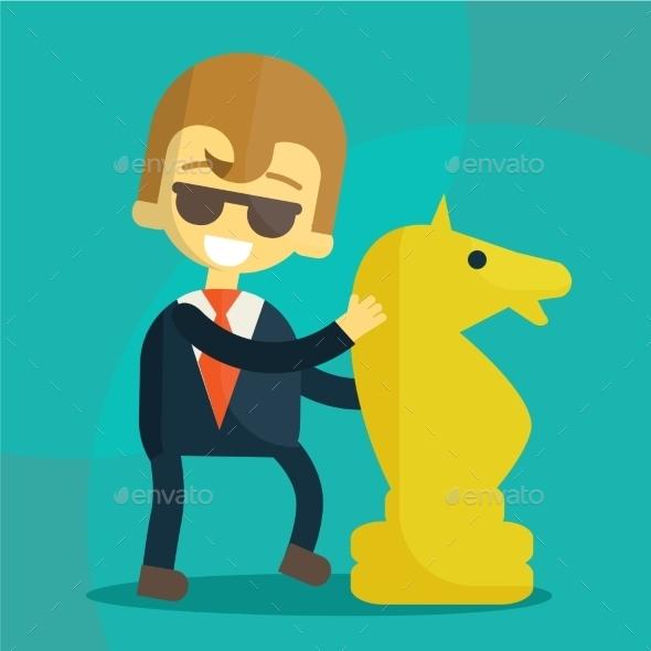 Businessman and a Development  - Business Conceptual