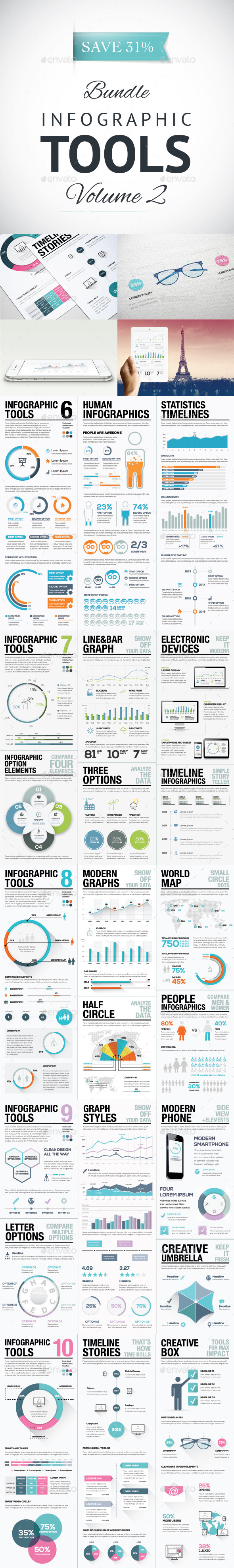 Infographic Tools Bundle Volume 2 - AI & EPS - Infographics