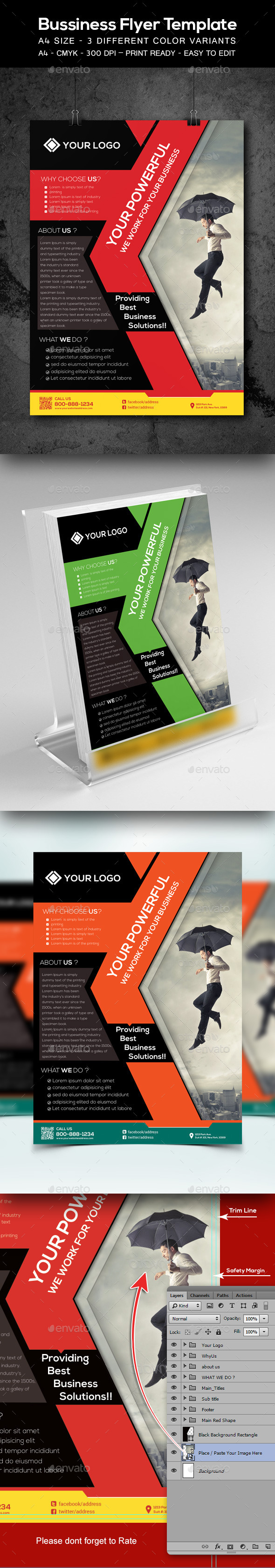 Corporate  Business  Flyer Template - Corporate Business Cards
