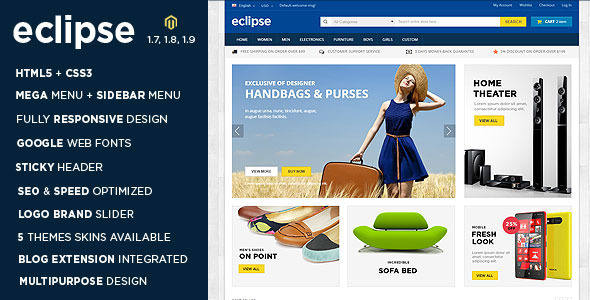 Eclipse - Digital Store Responsive Magento Theme - Shopping Magento