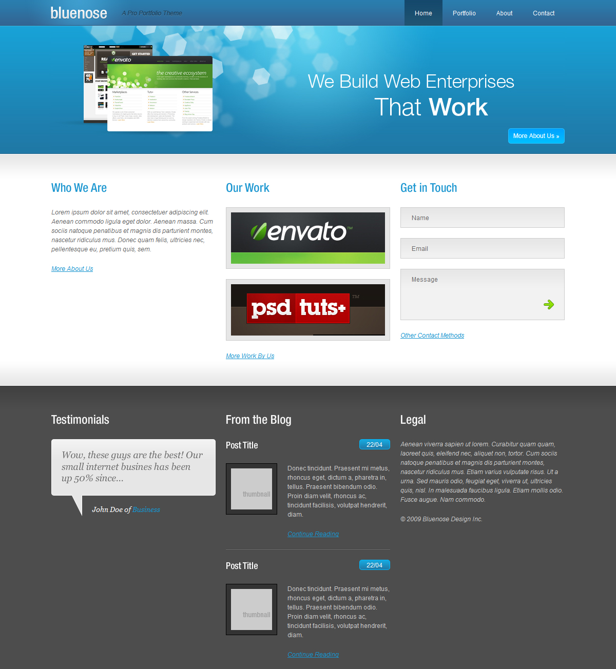Free Download Bluenose Website Theme Nulled Latest Version