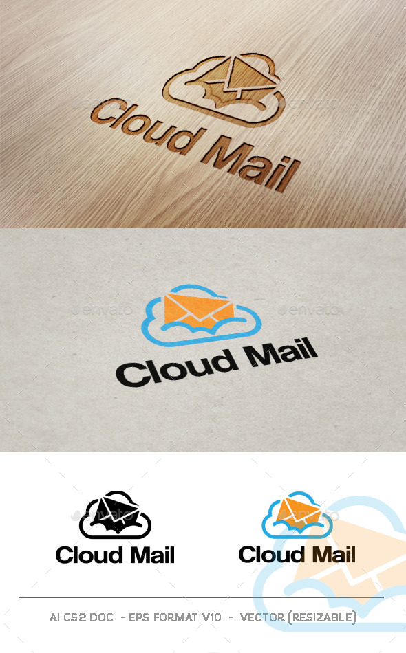 Cloud Mail V2 Logo - Objects Logo Templates