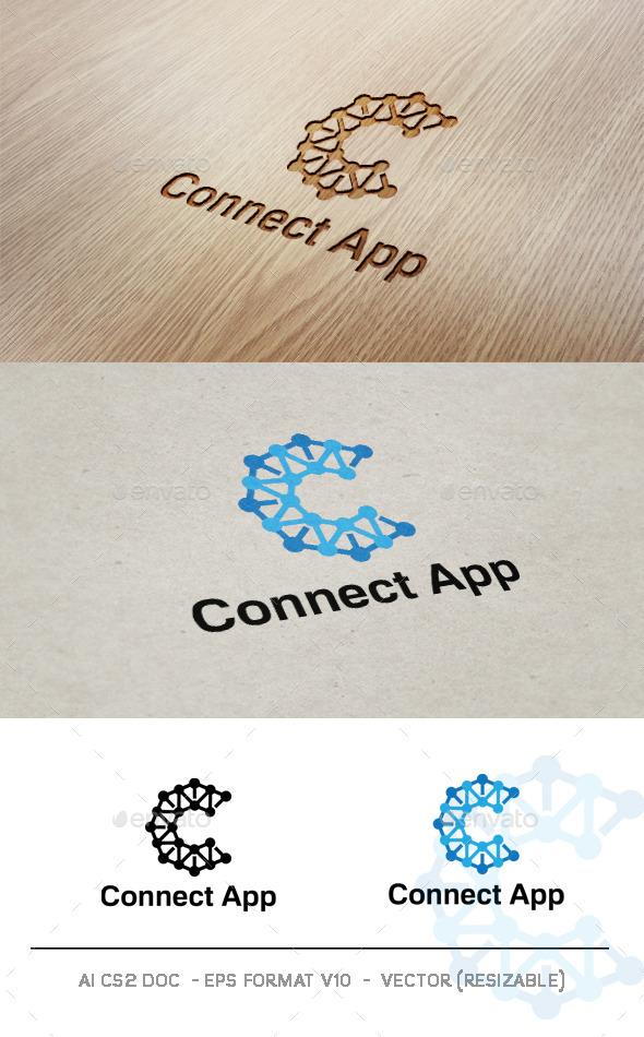Connect App V2 Logo - Letters Logo Templates