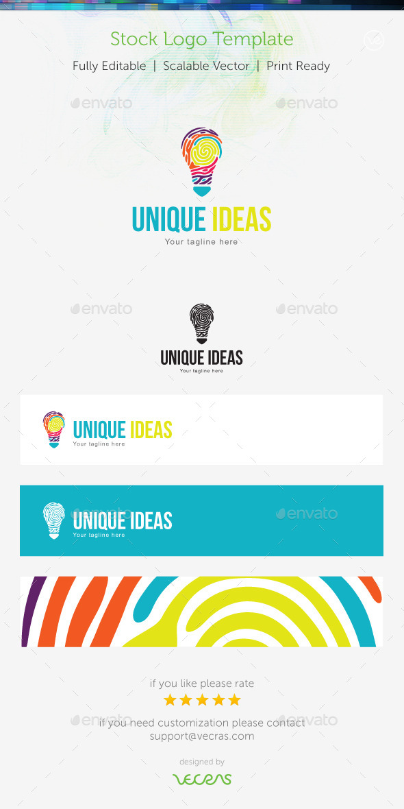 Unique Ideas Stock Logo Template  - Symbols Logo Templates
