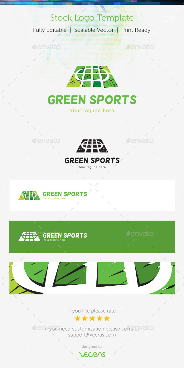 Green Sports Stock Logo Template   - Buildings Logo Templates