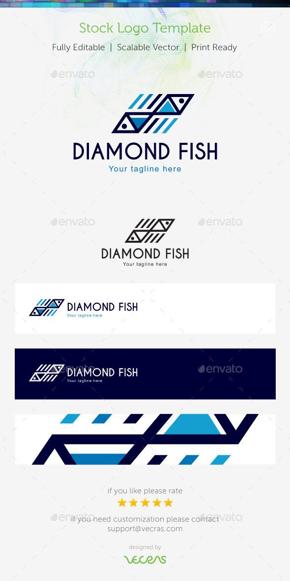 Diamond Fish Stock Logo Template  - Objects Logo Templates
