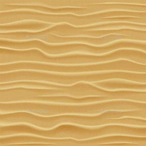 Sand Texture. Desert Sand Dunes. - Backgrounds Decorative